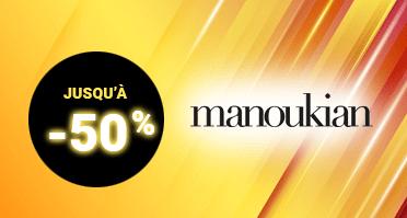 -50% sur la collection de valises Manoukian