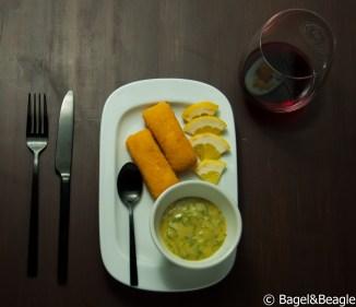 жареный сыр домашним майонезом