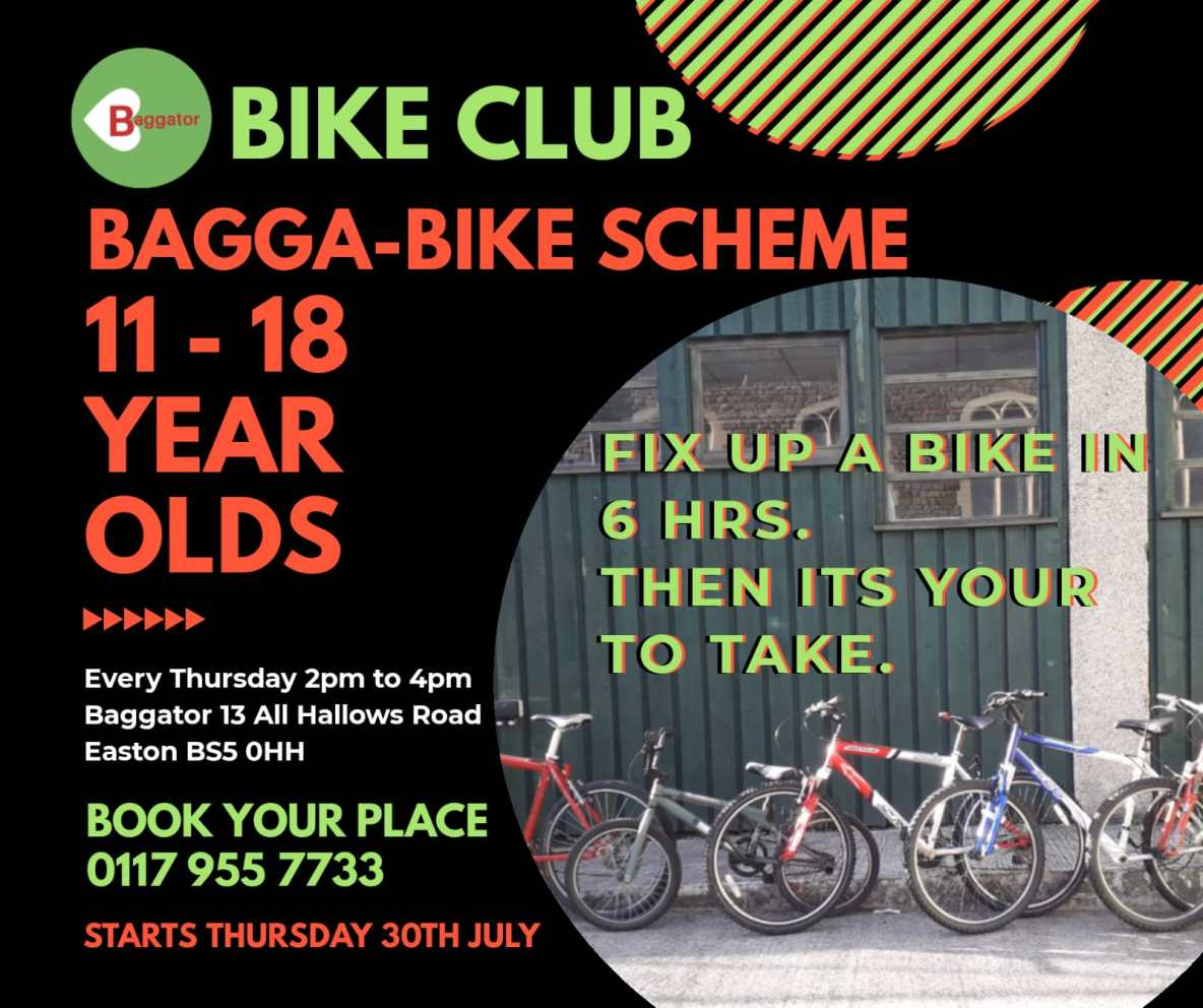 poster for Baggator bike club