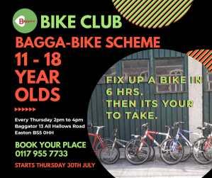 poster for Baggator bike club