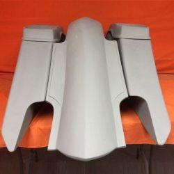 Harley Davidson 6″ Trendsetter Extended Saddlebag Fender Kit – Dual Cut Outs + Dual 6.5″ Speaker Lids / 2014+