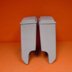 Harley Davidson 5″ Stretched Extended Saddlebags + Lids With Cut Outs