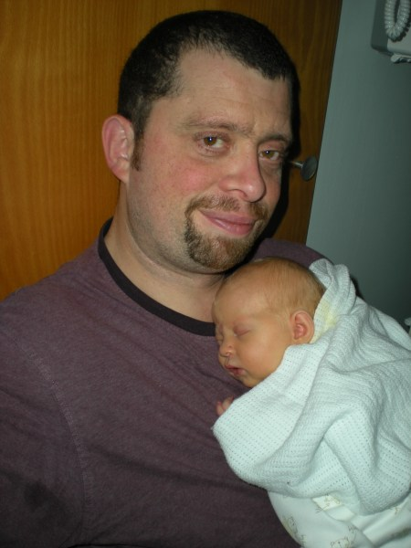 Asleep on daddy