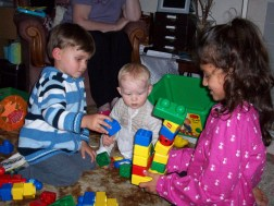Playing with Amelia and Finn