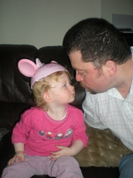 Give daddy a kiss