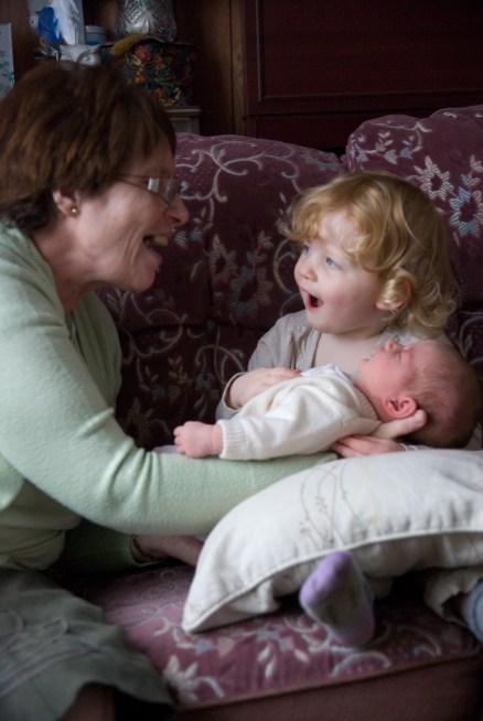 Nanny Fran and her Grand-daughters