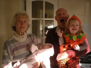 Nanny, Granddad and the Bagnall kids