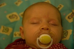 Sleeping, close up
