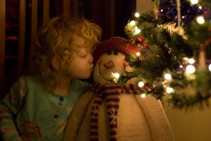 A kiss for the snowman