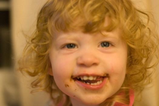 Chocolate grin