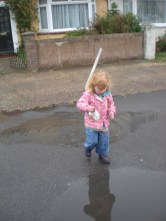 Everybody loves jumping up and down in muddy puddles