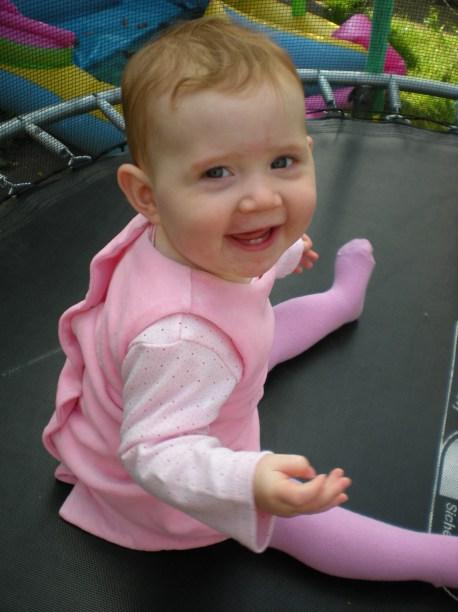 Enjoying the trampoline