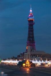 Blackpool Tower, at night