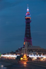 Blackpool Tower, at night