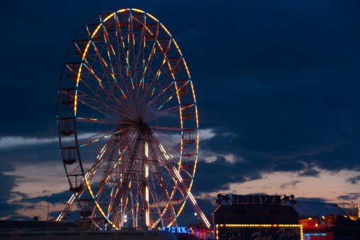 I sat there alone upon the ferris wheel