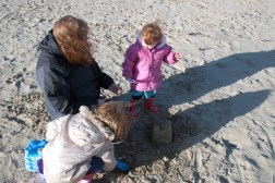 Playing on the sand