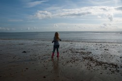 Throwing stones in the sea
