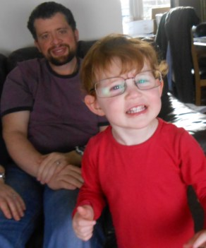 Cheese! (with Dad's glasses)