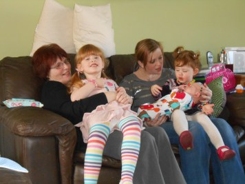 Nanny Fran, Auntie Liz and the Grandchildren