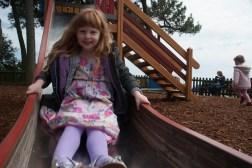 Down the slide