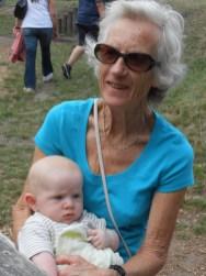 Ezra with Nanny