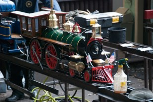 A miniature locomotive