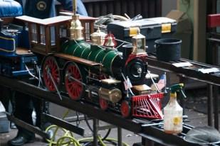 A miniature locomotive