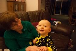 On Nanny's lap