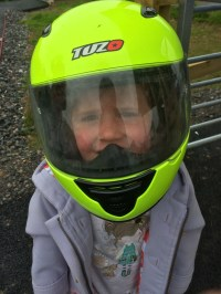 My first crash helmet