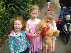 Marmaduke and the girls