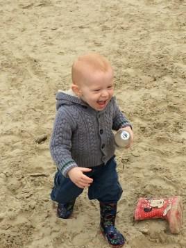 Having fun on the beach
