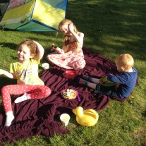 A picnic in the garden