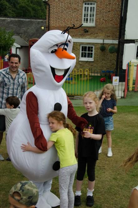Hug a snowman