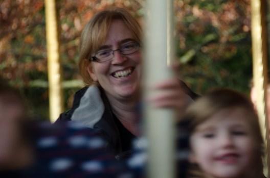 Mommy having fun