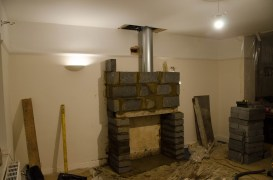 The start of the fireplace itself