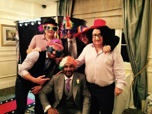 The groom and friends