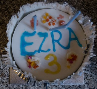 Ezra's birthday cake