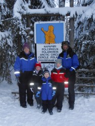 The Bagnalls at the Arctic Circle