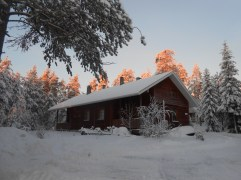 Snowy lodge