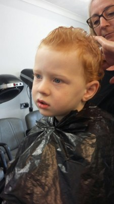 Ezra's second haircut