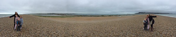 Fun on Chesil Beach