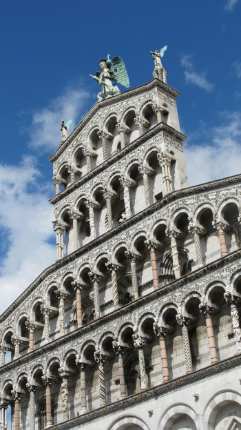the amazing facade of San Michele