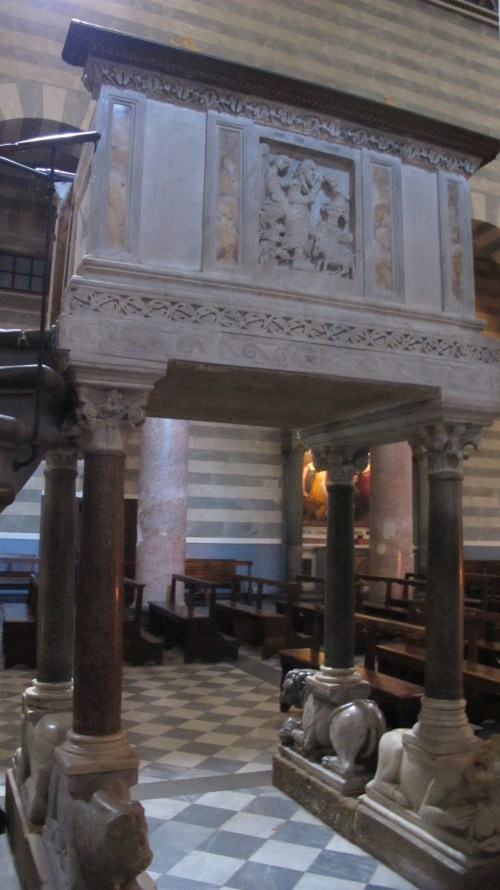 the marble pulpit