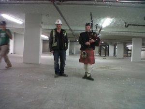 Matt Winkelman & Mike Chisholm at Rize construction site, Vancouver.