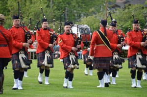 RCMP E. Division Pipe Band, at Bagpipes by the Beach