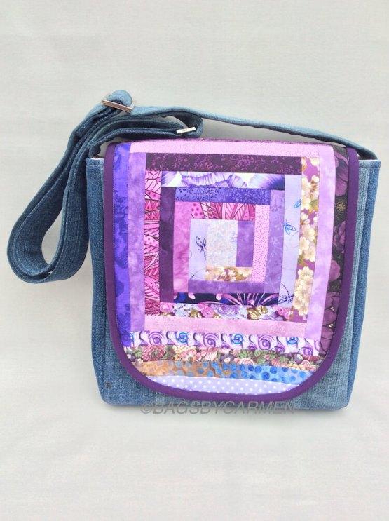 Sewing Workshop May | Logcabin Messenger Bag_Back