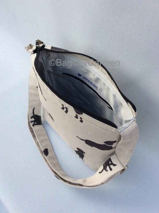 Black and White_Dog_Handmade_Shoulder Bag_Side