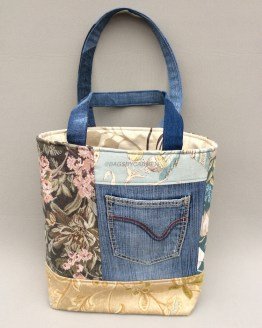 Blue Handmade Tote Bag_Front