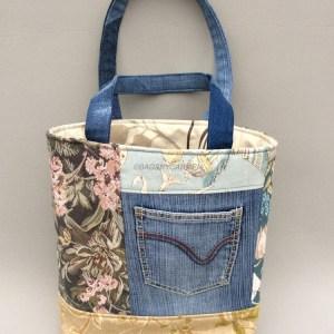 Blue Handmade Tote Bag_Front