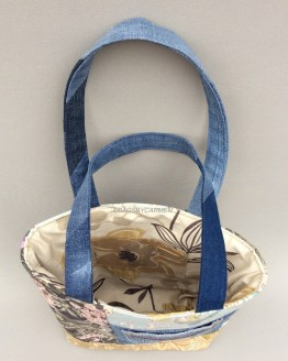 Blue Patchwork Handmade Tote Bag_Top